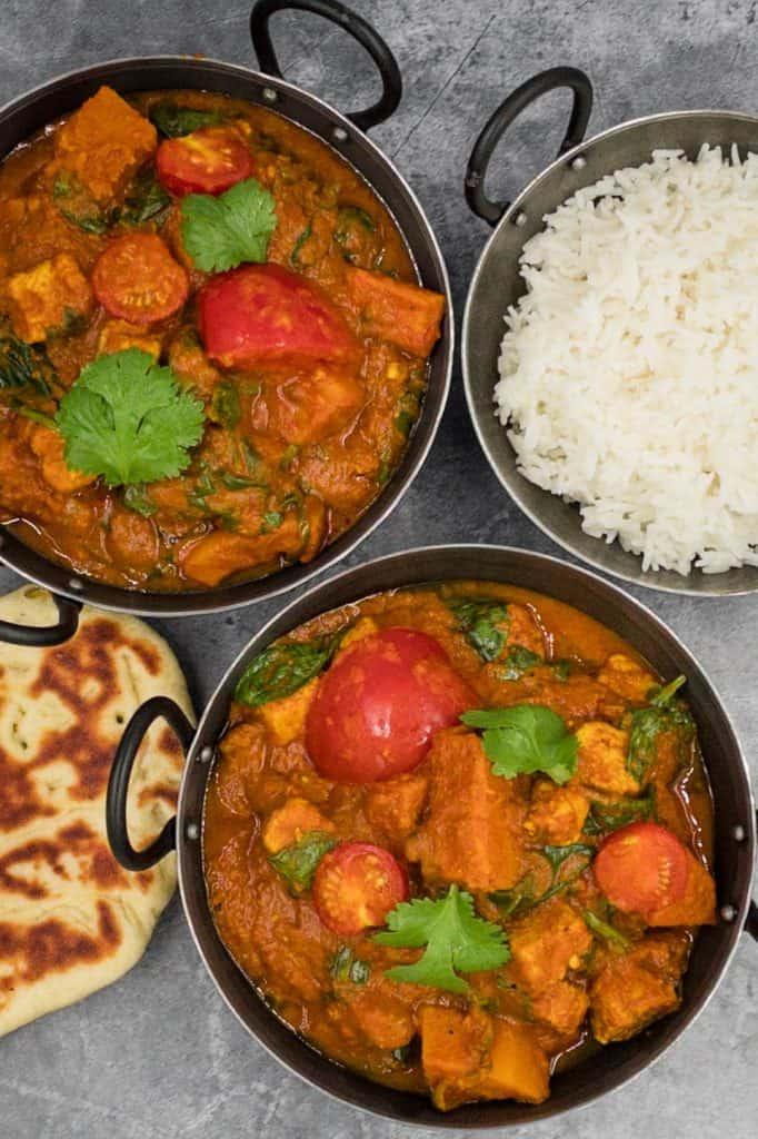 Homemade vegetable bhuna