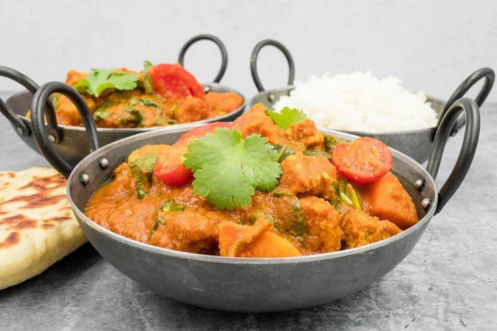 Tasty vegan bhuna curry