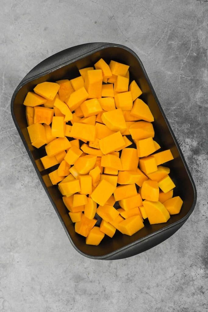 Butternut squash ready for the oven