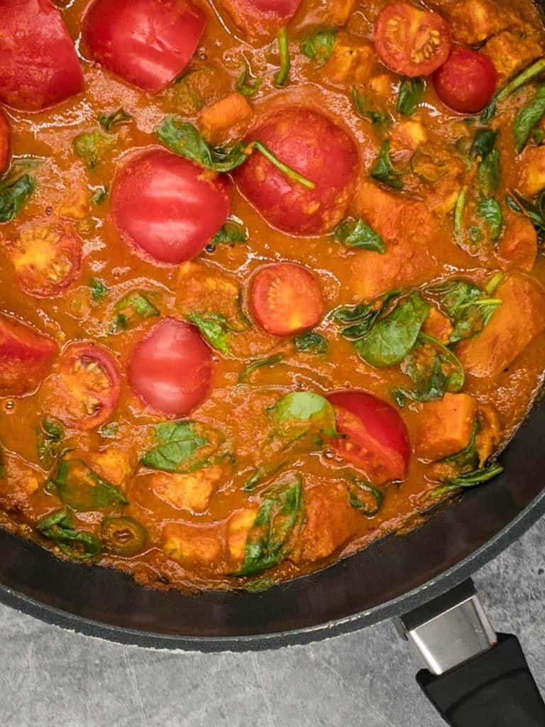 Mouth watering veg bhuna in a pan